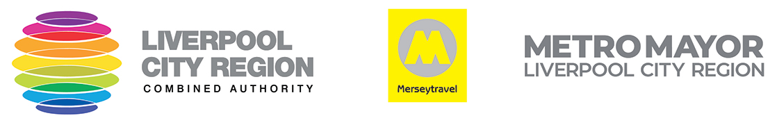 Liverpool City Region CA Logo, Merseytravel Logo and Metro Mayor Logo